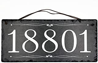 """Beautifully Handcrafted and Customizable Slate Home Address Plaque (18""""x8"""" 12"""