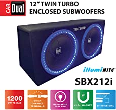 Dual Electronics SBX212i 12-inch illumiNITE High Performance Studio Enclosed Subwoofers..