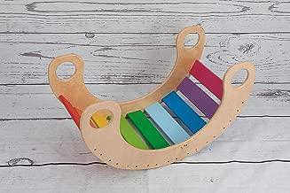 triangolo pikler 135-105-105 pieghevole doppia posizione con rampa e scivolo scala rampicante per bambini multicolor