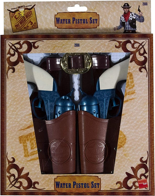 Smiffy's - Pistola de Agua, pistolera y cinturón del Viejo Oeste, Azul (21181)