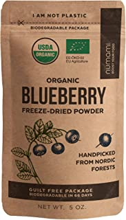 Numami Organic Wild Blueberry Powder, Handpicked from Nordic Forests in Europe, Freeze Dried, No Added Sugar, 5 oz
