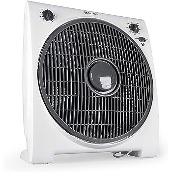 Tecvance TV-6633 Ventilador de Mesa o Suelo-Box Fan-Extra Silencioso y Potente-4 Velocidades-Temporizador-32cm Diámetro, Blanco, 1 unidad: Amazon.es: Bricolaje y ...