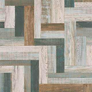 Sponsored Ad - Blue Ivory Gray Reclaimed Wood Wallpaper for Walls - Double Roll DF2091