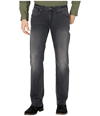 Buffalo David Bitton Six-X Straight Leg Jeans in Black Sanded (Black Sanded) Men
