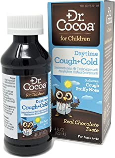 Dr. Cocoa Cough and Cold Medicine for Kids, Daytime Formula, Real Chocolate Taste, 4 Fluid Ounce