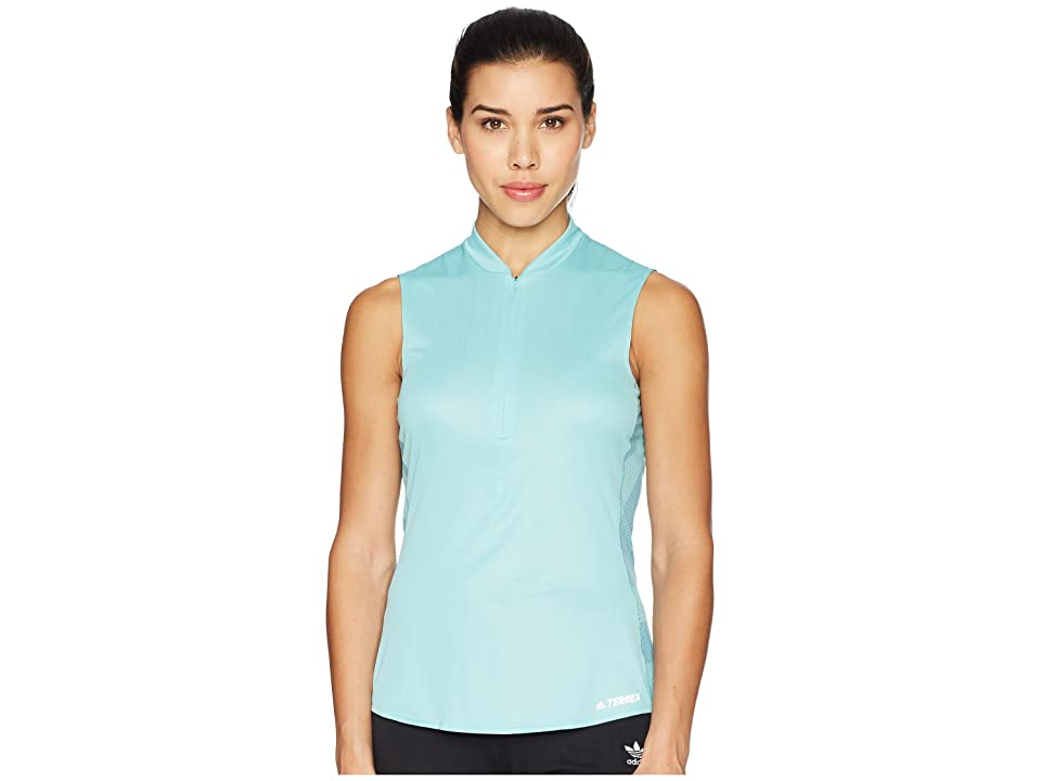 Image of adidas Outdoor Agravic Parley Top (Blue Spirit) Women's Sleeveless