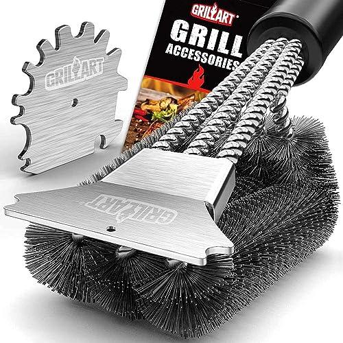 GRILLART-Grill-Brush-and-Scraper-18-Inch
