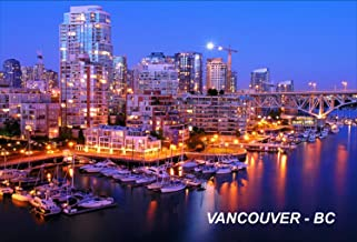Canada Canadian Vancouver British Colombia BC Fridge Refrigerator Magnets (1 Piece, Vancouver– G5)