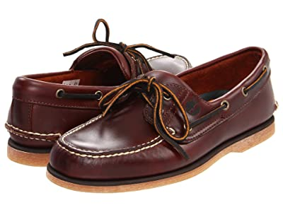 Timberland Classic 2-Eye Boat Shoe (Classic Rootbeer Smooth Leather) Men