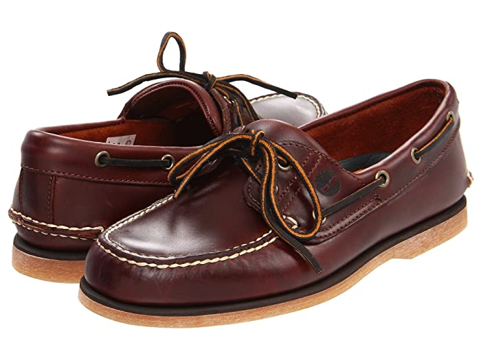 Timberland  Classic 2-Eye Boat Shoe (Classic Rootbeer Smooth Leather) Mens Slip on  Shoes