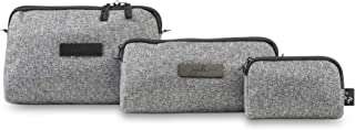 JuJuBe Be Set Travel Accessory Bags Onyx Collection, Gray Matter