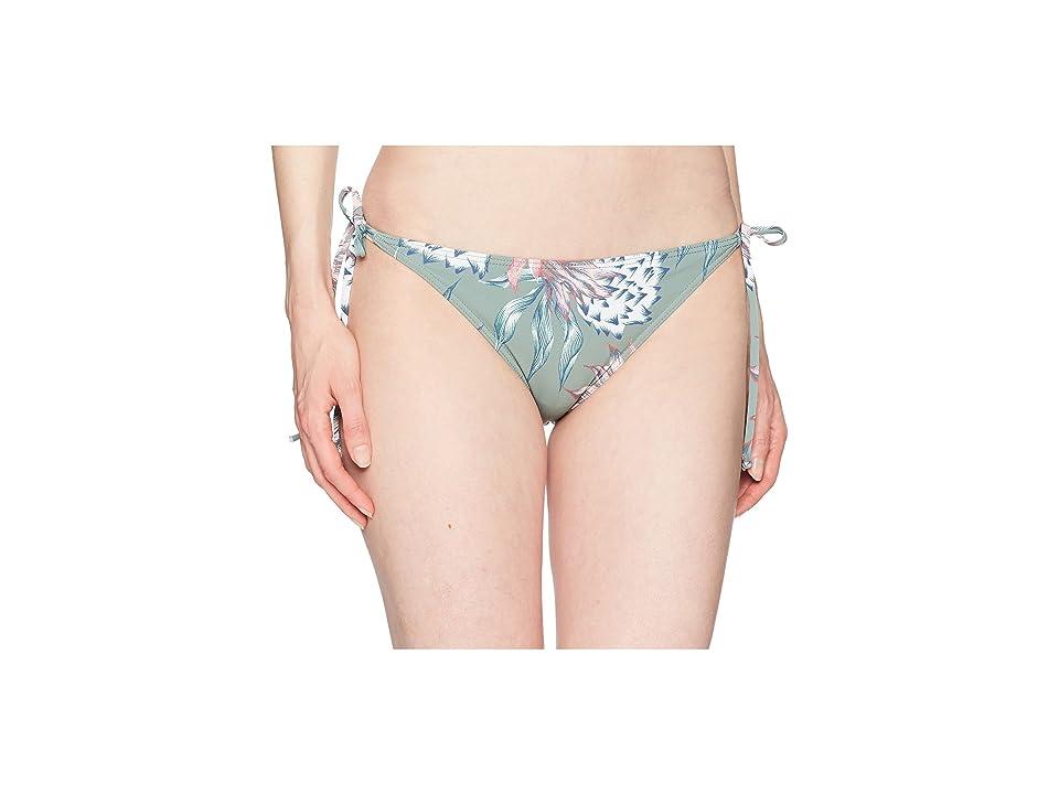 Roxy Little Bandits Tie Side Surfer Bottoms (Olive/Swim House of the Sun) Women