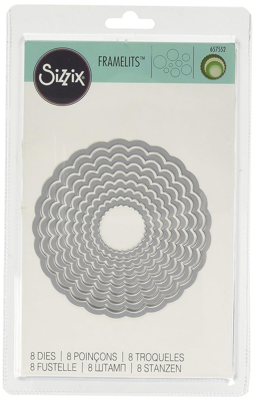 Sizzix Framelits Die Set 8/PK - Circles, Scallop