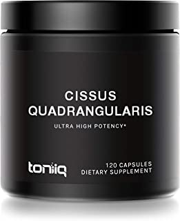 Ultra High Strength Cissus Quadrangularis Capsules - 10% Ketosteroids - 1200mg 100x Concentrated Extract - Wild Harvested ...