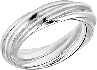 AeraVida Interconnected Puzzle 5 Band .925 Sterling Silver Ring