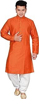 Men Indian Plain cotton silk Kurta salwar sherwani pajama pary wear set 1817