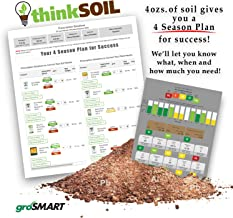 groSMART thinkSOIL - Lawn Soil Test Kit and 4 Season Nutrient Management Plan - Receive Soil Condition Results Plus a 4 Season Nutrient Plan Customized for The Homeowner to Ensure a Healthier Lawn.