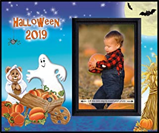 Halloween 2019 Photo Frame Keepsake for This Year's Pumpkin Patch or Trick or Treat Fun Fall Seasonal Activities.