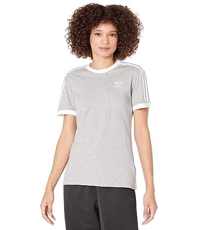 adidas Originals 3-Stripes Tee (Medium Grey Heather 2) Women