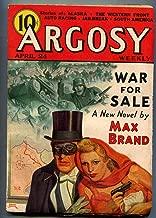 Argosy Pulp April 24 1937- War For Sale- Belarski cover VG/F