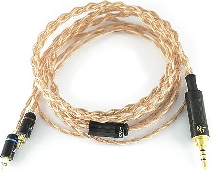 NocturnaL Audio Gravis (CM) 2-Pin Litz Copper 2.5mm Balanced Upgrade Cable for W4R, Custom IEMs (CIEM), 2.5 mm