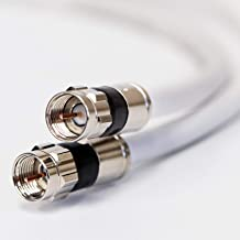 50ft White RG6 Digital Coaxial Cable Shielded PVC Jacket Rated UL ETL CATV RoHS 75 Ohm..