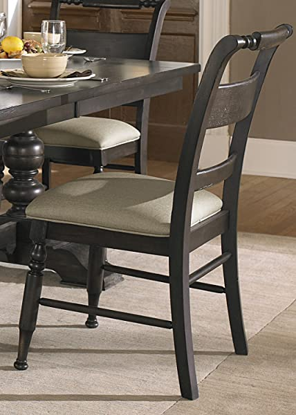 Liberty Furniture Whitney Slat Back Dining Side Chair In Black Cherry