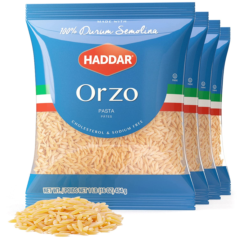 Haddar 100% Durum Semolina Boston Mall Orzo Super Special SALE held Pack 4 Pasta 16oz
