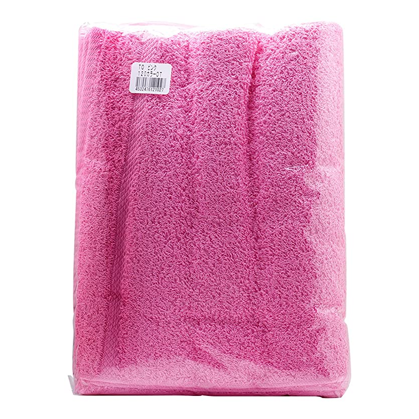 滑りやすい抗議くつろぎTO カラーおしぼり 120匁 (12枚入) ピンク