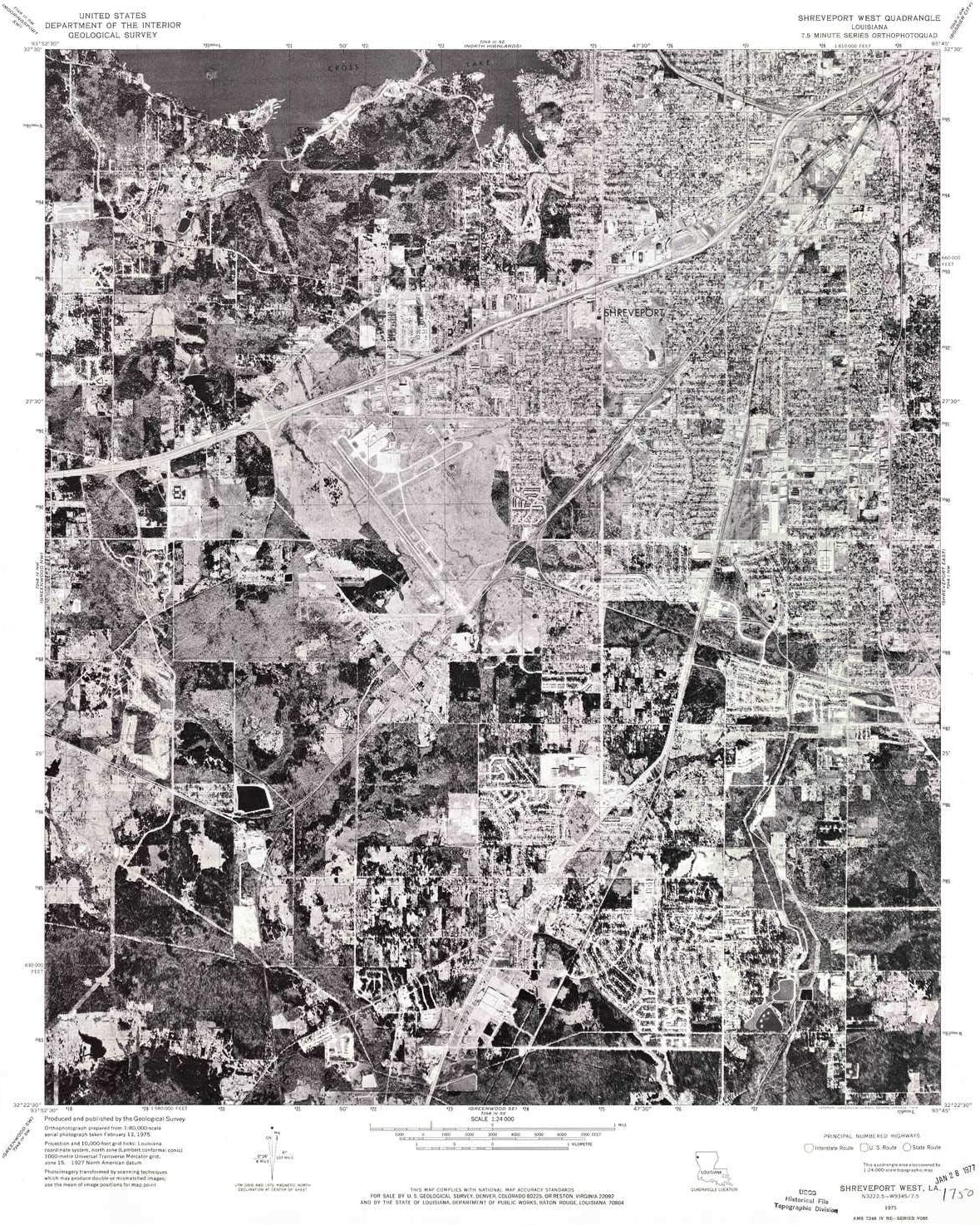 YellowMaps Shreveport sold out West LA Max 43% OFF topo 7.5 map X 1:24000 Scale