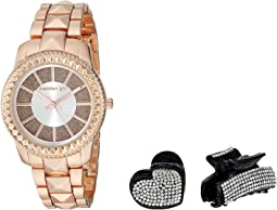 Madden Girl Glitter Band Watch with Two-Piece Hair Set SMGS022