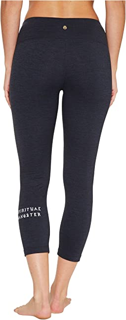 Spiritual Gangster - SG Old English Power Crop Leggings
