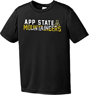 Image One NCAA Appalachian State Mountaineers Youth Boys Diagonal Short sleeve Polyester Competitor T-Shirt, Youth Small,B...