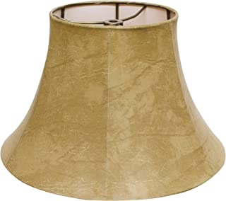 Cloth & Wire Slant Transitional Bell Lampshade in Animal Hide (18 in. Dia. x 11 in. H (1.4 lbs.))