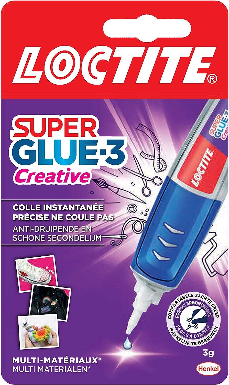 Loctite Super Glue-3 Creative, colle instantanée sous forme de stylo pour applications précises, Gel Superglue, réajustable et ne coulant pas, colle universelle de 3 g