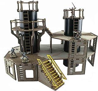 War World Gaming Industry of War Refinery 1 – Unpainted – 28mm Sci-Fi Wargaming Terrain Model Diorama Scenery Sci-Fi Battl...