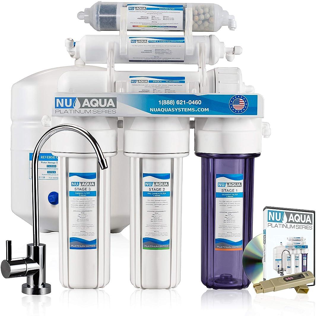 NU Aqua Platinum Series 100GPD Under Sink Reverse Osmosis Drinking Water Filtration System – Premium Water Filter (6 Stage Alkaline)