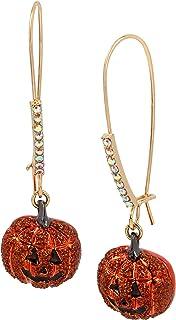 Pumpkin Shepherd's Hook Drop Earrings