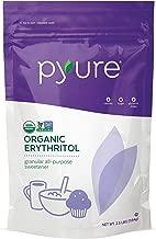 Pyure Organic Erythritol Sweetener, Granulated Sugar Substitute, non-GMO, 0 Calorie, 0 Net Carbs, 2.5 Pound (40 Ounces)