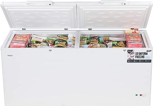 Haier - Double Door Hard Top Deep Freezer HCC 588HC, Convertible, 588 liters, White