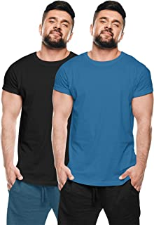 thecaptainchoice Half Sleeves Round Neck Cotton Solid T-Shirt for Men Combo Pack
