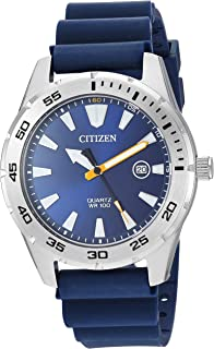 Citizen Men's Stainless Steel Japanese Quartz Polyurethane Strap, Blue, 22 Casual Watch (Model: BI1041-22L)