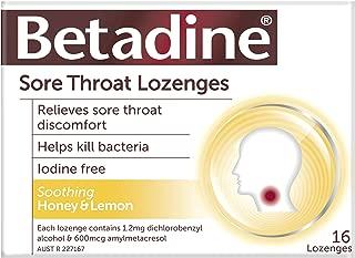 Betadine Sore Throat Lozenges Honey & Lemon 16
