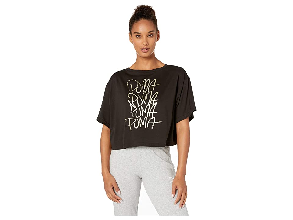 PUMA Sweet Loose Crop Tee (PUMA Black) Women