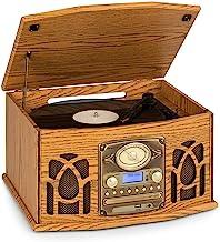 auna NR-620 DAB Stereoanlage, Plattenspieler, CD-Player, Kassettenrekorder, Radio,..