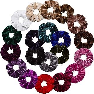 AOPRIE Velvet Scrunchies for Hair Scrunchies - 20 Pack Scrunchies for Hair Velvet, Hair Scrunchies for Women, Scrunchies Velvet, Hair Scrunchies for Girls, Velvet Hair Scrunchies 20 Colors
