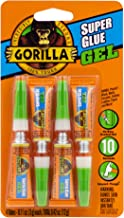 Gorilla Super Glue Gel, Four 3 Gram Tubes, Clear, (Pack of 1)