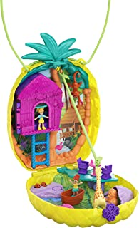 Polly Pocket Polly & Lila Tropicool Pineapple Wearable Purse Compact, Multi