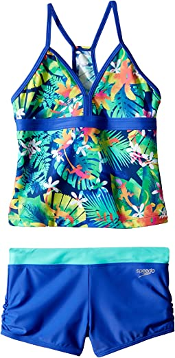 Speedo Kids Hidden Tropical Boyshorts Two-Piece (Big Kids)