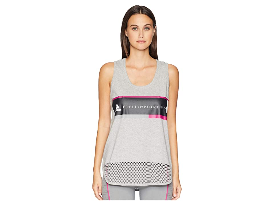 adidas by Stella McCartney Essentials Logo Tank CZ5960 (Medium Grey Heather) Women